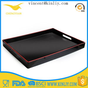 Plastic Melamine Fast Food Serving Tray with Handles pictures & photos
