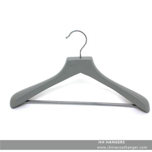 Branded Grey Suit Hanger Wooden Clothes Hanger Hangers for Jeans pictures & photos