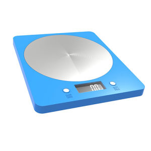 Stainless Steel Plastic Kitchen Scale with 5kg (EK839blue) pictures & photos
