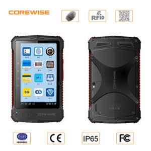 Handheld Andorid Tablet PC with Fingerprint RFID Barcode Scanner pictures & photos
