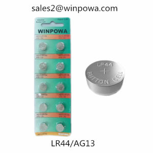 1.5V 0% Mercury Alkaline Lr44 Button Cell Battery pictures & photos