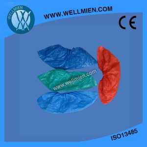 Disposable PE Shoe Cover, Disposable CPE Shoe Cover pictures & photos