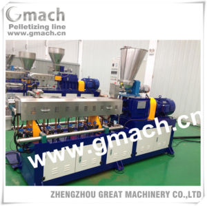 Twin Screw Parrallel Extruder for Plastic Granules Making Machine pictures & photos
