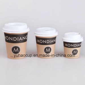 4/6/8oz Brown Kraft Cup Paper Coffee Cup (YHC-005) pictures & photos