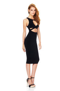 Bodycon Keyhole Knitted Sleeve Dresses pictures & photos