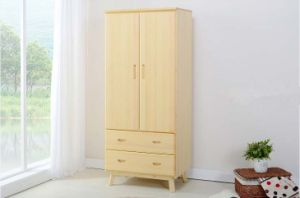 Two Doors Simple Style Wardrobe Made by Solid Wood (M-X1106) pictures & photos
