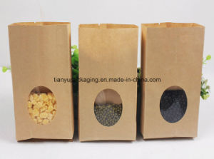Kraft Paper Food Packaging Bag with Window pictures & photos