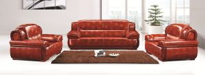 Modern Leather Waiting Room Sofa (FOH-9802) pictures & photos