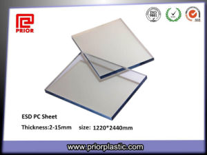 Plastic Polycarbonate Sheet with Static-Dissipative Coating pictures & photos