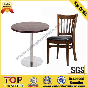Strong Steel Round Cafe Restaurant Dining Tables pictures & photos