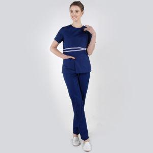 Hospital Uniform Cotton Short Sleeve Medical Staff Uniforms pictures & photos