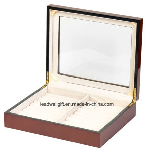 Extra Large Cufflink Jewelry Ring Box in High Gloss Jewelry Case pictures & photos
