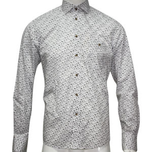 Man′s Woven Printed Fashion Shirt HD0024