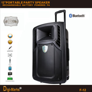FCC Ce Karaoke Bluetooth FM Mini Trolley DJ Passive Speaker pictures & photos