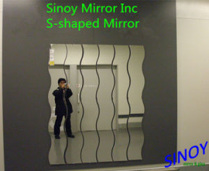 Sinoy S3000 Series Waterproof Decorative Long Wave Mirrors, S Shaped Mirrors / S-Shaped Mirror Glass / Wavy Mirrors for Home Decors, Bathroom Decoration, etc. pictures & photos