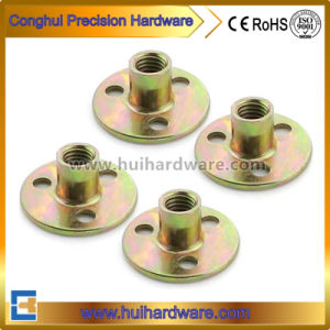 Round Base T Nut with Three Holes, Furniture Nut Manufacturer pictures & photos