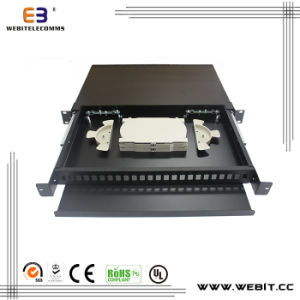 24 Port Blank Fiber Patch Panel for Different Adaptors pictures & photos