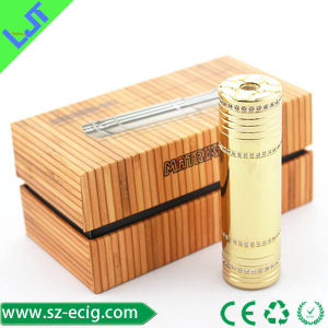 Mechanical Mod by Black Turtle Ship Golden with Embedded Diamonds Mods Battery (Matrix-DS)