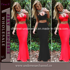 2015 New Two Piece Lady Bridemaid Party Cocktails Dresses (TP4529) pictures & photos