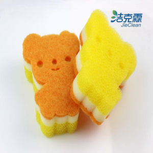 Sponge Scourer of Lovely Bear Shape pictures & photos