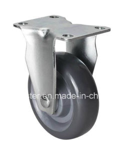 "Edl Medium 4"" 130kg Rigid PU Caster 5004-75"