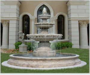 Carved Stone Fountain for Garden Design pictures & photos