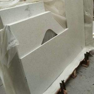 Popular Pure White Quartz Countertop for Kitchen pictures & photos