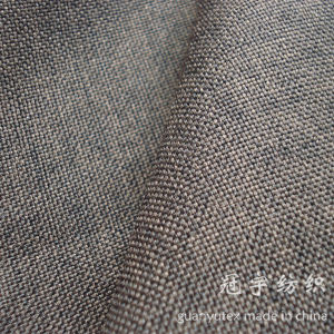 Oxford Imitation Linen Fabric with Knitted Backing pictures & photos