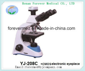 Binocular Microscope with CMOS Electronic Eyepiece 208c Made in China pictures & photos