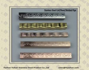 Embossed Welded Stainless Steel Decoration Pipe pictures & photos