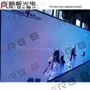 Wholesale Indoor P5 Super Slim Iron Cabinet LED Display Screen pictures & photos