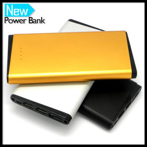 12000mAh Chrome Shell Portable Power Bank Charger pictures & photos