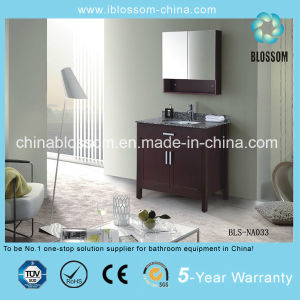 High Quality Floor Mounted MDF Bathroom Furniture Vanity Cabinet (BLS-NA033) pictures & photos
