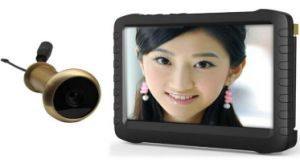 5.8GHz Wireless Mini Door Peephole Video Camera with 5 Inch Monitor DVR Te850h pictures & photos