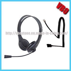 New Style Telephone Headset with Rj Jack for Call Center pictures & photos