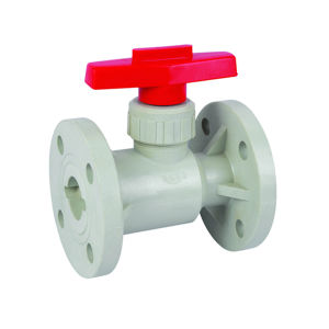 Pph Flange Ball Valve for Corrosive Fluid pictures & photos