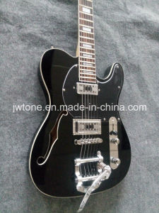 F Hole Pearl White Block Inlay Quality Custom Tele Electric Guitar pictures & photos