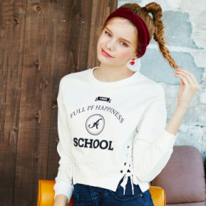2016 Short Sleeve Women Cotton Printed T Shirts pictures & photos