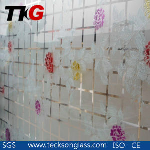 3-12mm Acid Etched Glass with Flower Designs pictures & photos