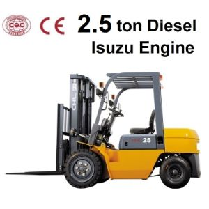 2.5 Ton Diesel Good Forklift for Sale with Isuzu Engine (CPCD25) pictures & photos