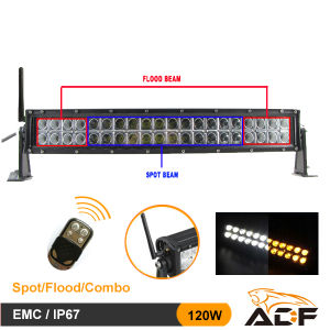 20 Inch 120W Multi-Colour, White&Amber LED Light Bar LED Work Light for Jeep, 4X4, SUV