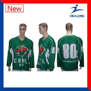 Healong Custom Online Fashion Full Sublimated Mesh Ice Hockey Jerseys pictures & photos