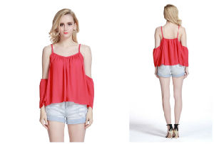 Hot Sale High Quality Fashion Chiffon Tank Top for Women pictures & photos