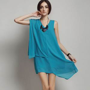 Hot Sale Fashion Ladies Sleeveless Casual Dress for Summer pictures & photos