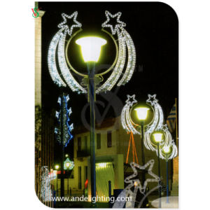 Falling Star Motif Light Pole Motif Decoration Light pictures & photos