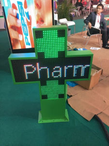P10 Double Side Cross Pharmacy LED Display pictures & photos