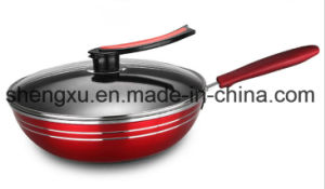 Pure Iron Non-Stick No-Oil Smoke Pure Iron Aluminum Wok SX-A9-22 pictures & photos
