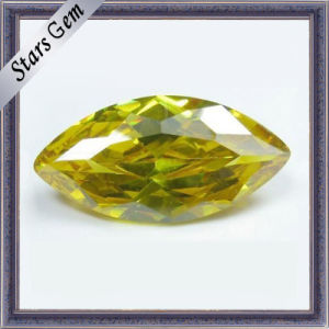 Yellow Marquise Shining CZ Gemstone (STG-51) pictures & photos
