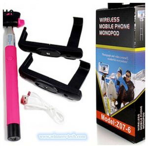 China Manufacturer 2 Monopod Blueooth Wireless Monopod Selfie Stick Z07-6