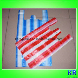 HDPE Striped Carrier Bags, T-Shirt Bags, Trash Bags pictures & photos